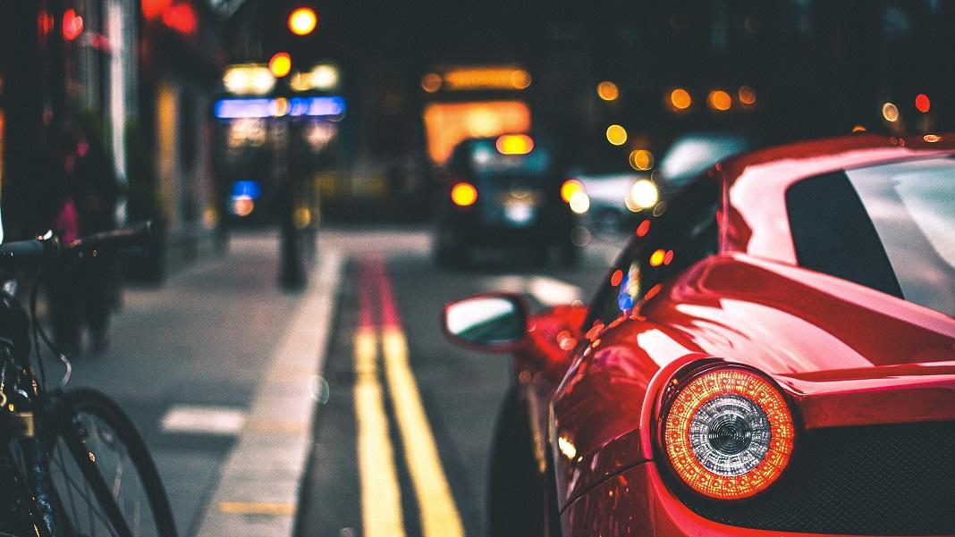 Car in city